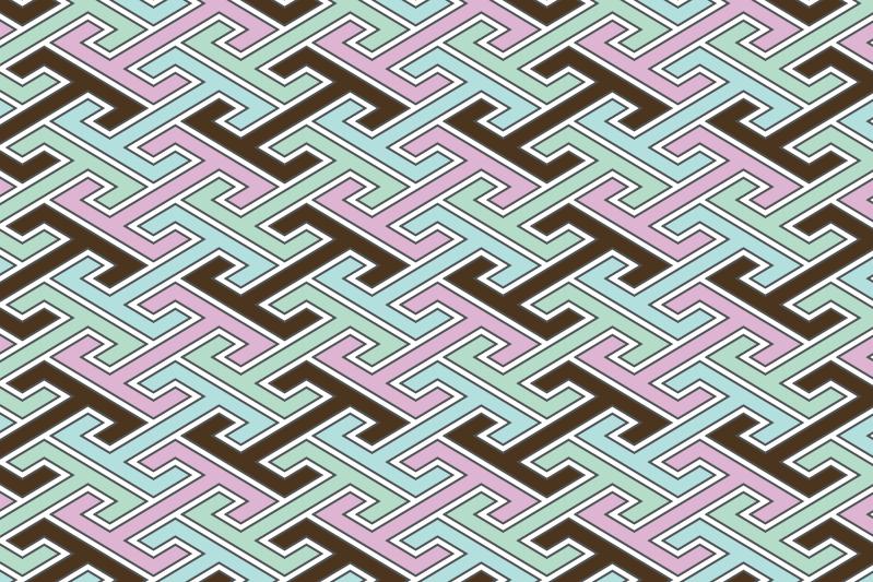 工字繋ぎのパターン16