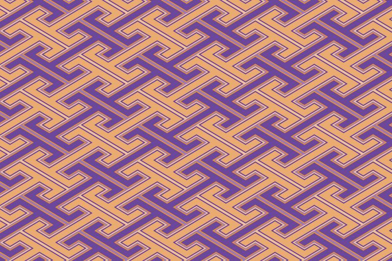 工字繋ぎのパターン6